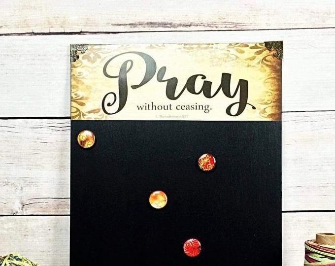 Prayer Reminder - Christian Home - Magnetic Chalkboard - Chalkboard Sign - Magnet Board - Homeschool Family - Pastor Gift