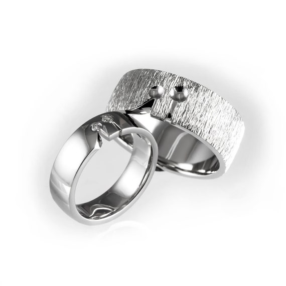 unique wedding ring sets for him and her matching wedding bands his and hers wedding rings simple 8192