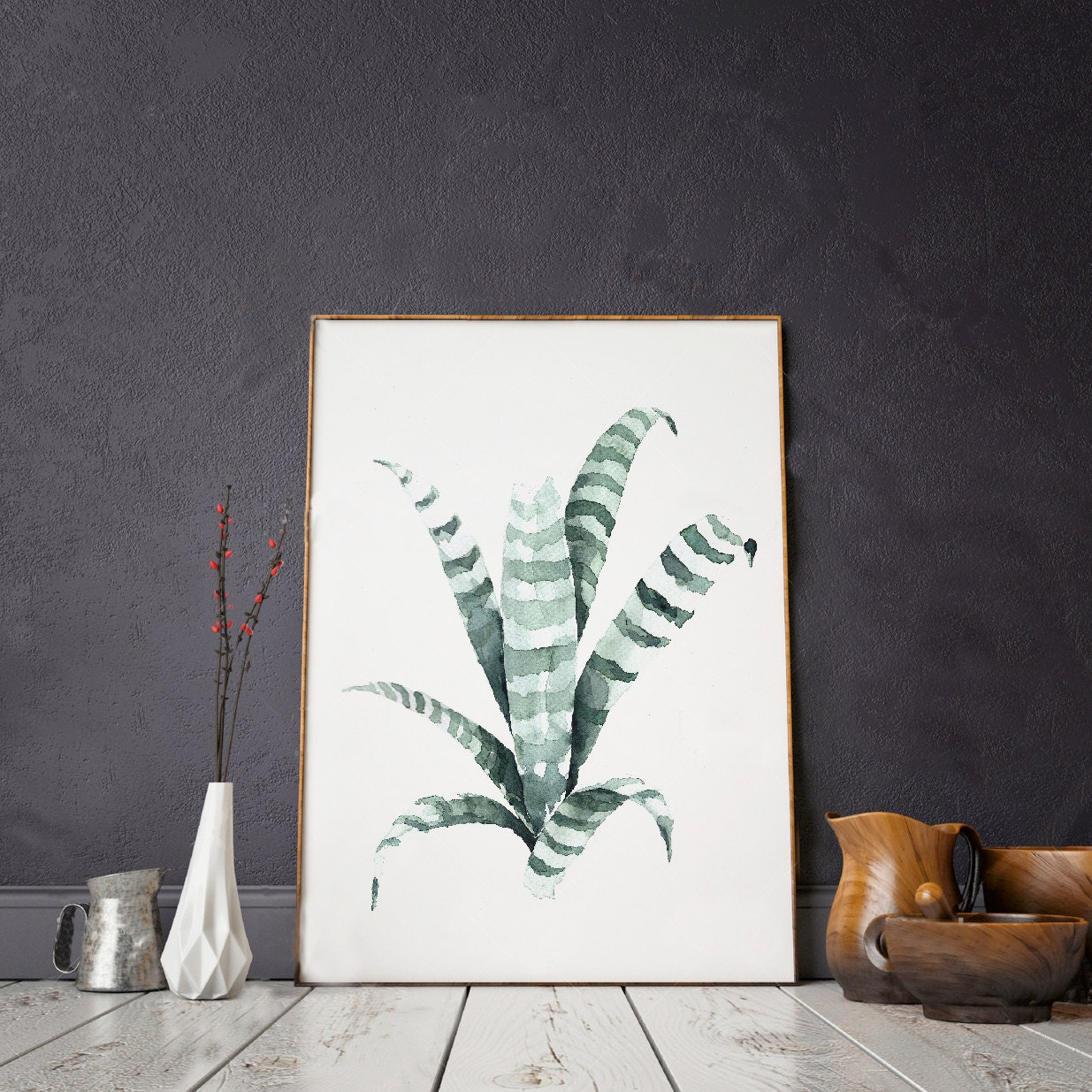 Urban jungle print of watercolor painting 39 tiger 39 for Decoration urban jungle