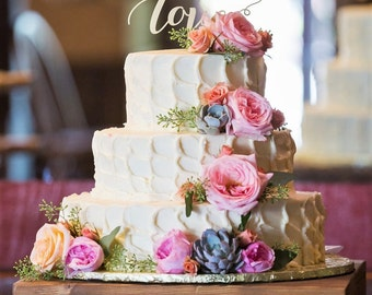 "Rustic Wedding Cake Stand - 16""x16"", 18""x18"" or 20""x20"""