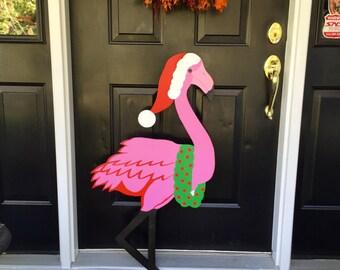 Christmas Flamingo Outdoor Lawn Decoration