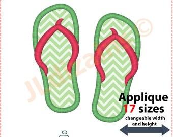 Flip Flops Applique Design. Flip flops embroidery design. Embroidery flip flop. Flip-flop applique embroidery. Machine embroidery design.