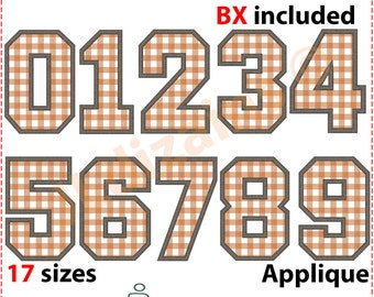 Applique Numbers. Number embroidery design. Jersey number applique. Jersey number embroidery. Machine embroidery design. BX format included