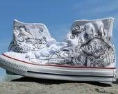 Converse Marauder's Map Harry Potter Shoes