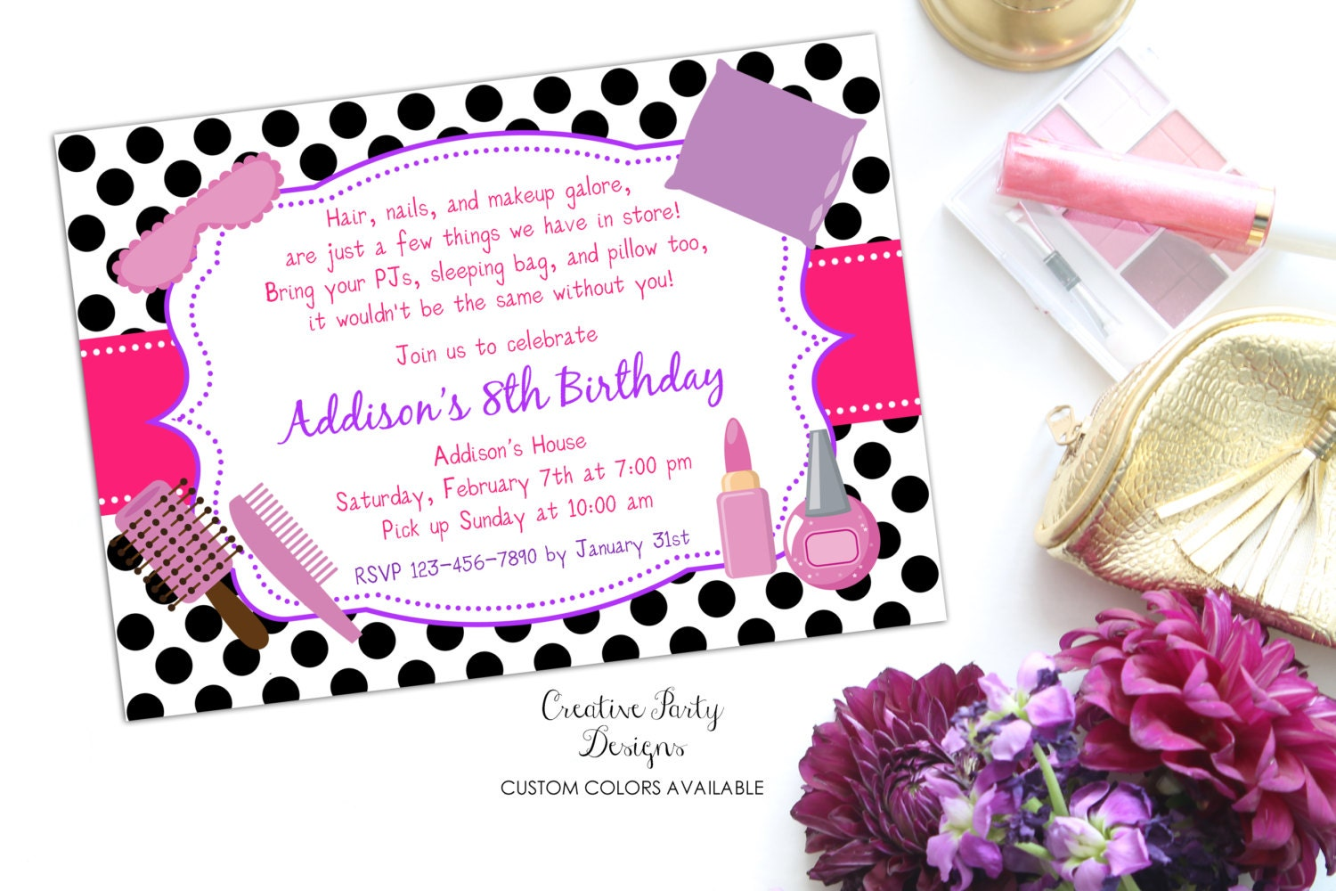 Sleepover Birthday Invitations gangcraftnet