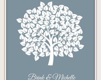 Wedding Signature Tree Guest Book Alternative Guest Book Bridal Shower Wedding Anniversary Baby Shower Tree Guest Book - 60677
