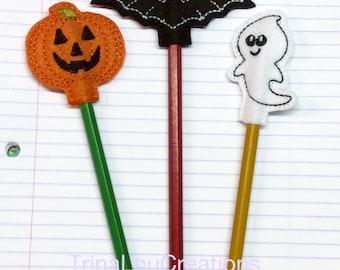Halloween Pencil Topper, Includes Pencil, Party Favor, Gift Bag, Halloween Treat Bag, School Party, Birthday Party Favor, Goody Bag Favor