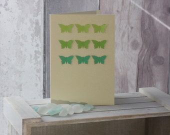 Spring Greens 3D Effect Butterfly Card
