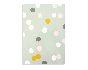 """Pastel colors illustrated Notebook 100 lined sheets - A5 14.8cmX21cm (5.8""""X8.3"""") Circles pattern Pastel colors, Notepads"""