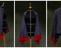 Kimono jacket knitted fabric