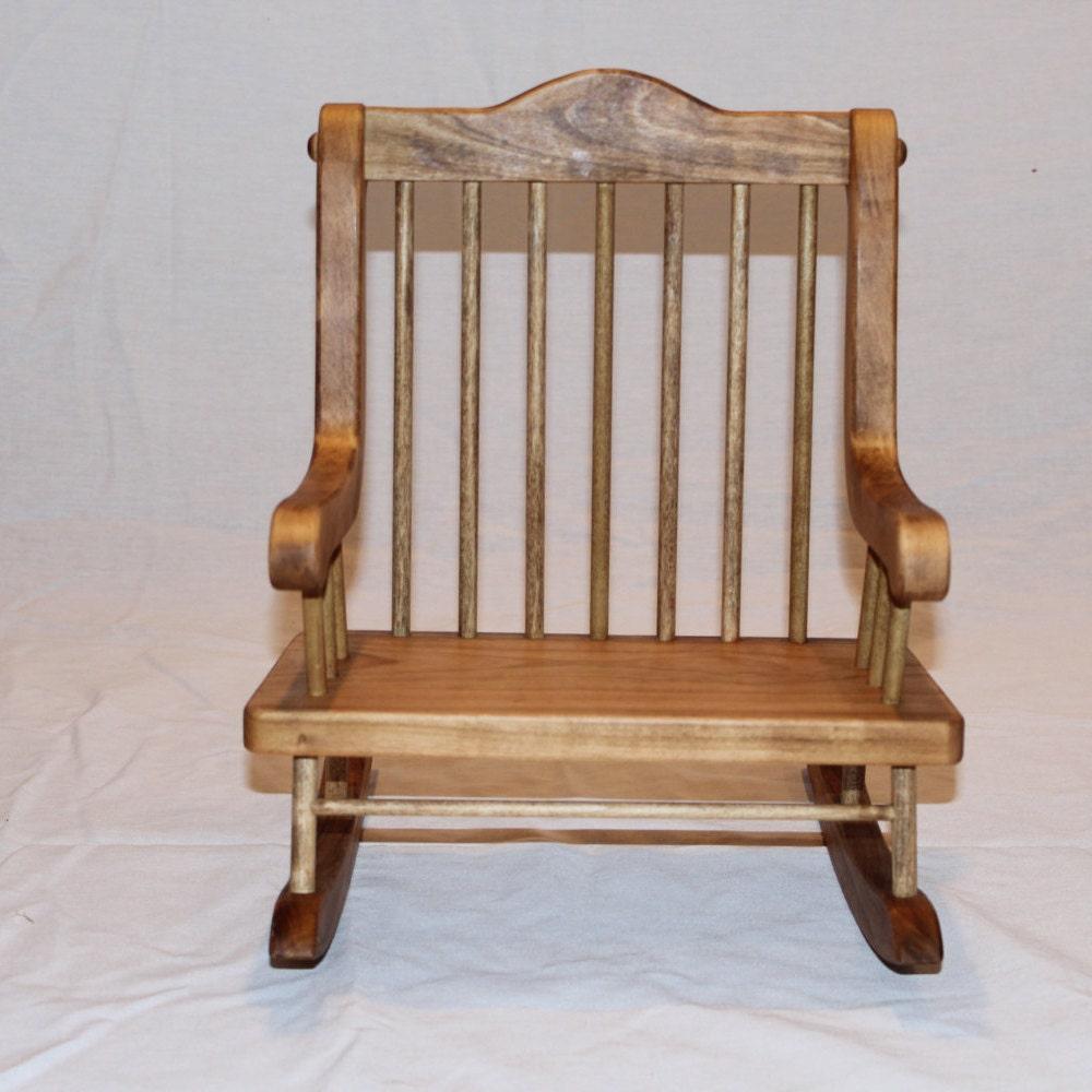 Doll Teddy Bear Rocking Chair