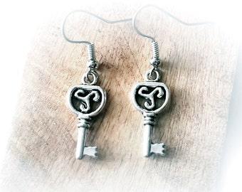 BDSM triskele symbol emblem Earrings wedding anniversary gift for women girlfriend wife grunge industrial underground burning man fistival
