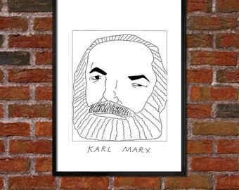 Badly Drawn Karl Marx  - Literary Poster - *** BUY 4, GET A 5th FREE***