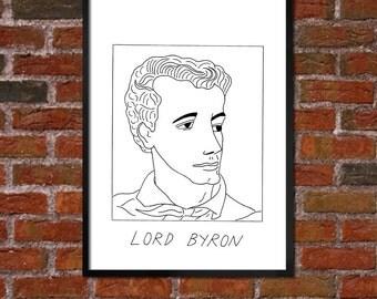 Badly Drawn Lord Byron - Literary Poster