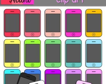 Cell Phones Clip Art