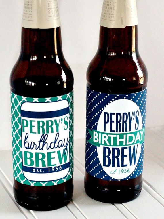 custom printed birthday beer bottle labels With custom printed beer bottles