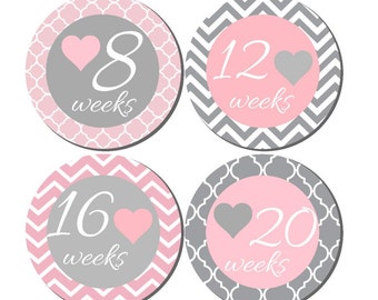Weekly Pregnancy Stickers, Pregnancy Announcement, Pregnancy Belly Stickers, Pregnancy Photo Prop, Maternity Stickers, P27