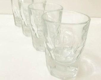 4 Thumbprint Double Shot Glasses