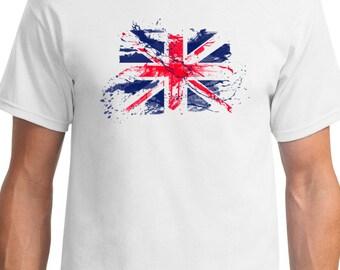 Union Jack Flag T Shirt Tee Top United Kingdom Great Britain gift
