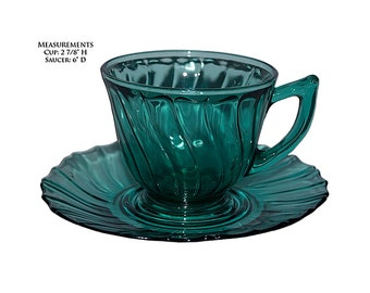 Jeannette Swirl Ultramarine Cup and Saucer