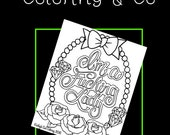 I'm a Fucking Lady adult printable coloring page download