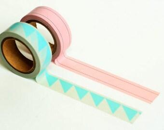 Set of 2 patterned washi tapes
