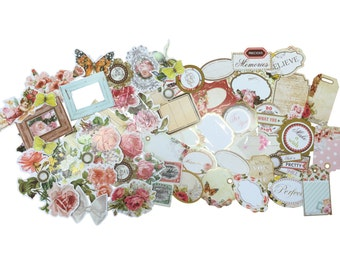 50 Die Cut Shapes and Embellishments for Scrapbooking, Card Making