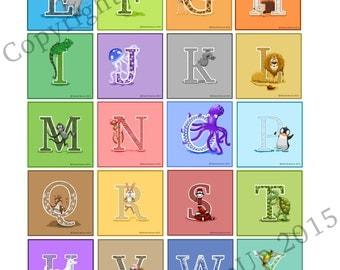 Entire Alphabet A - Z (26 Letters)