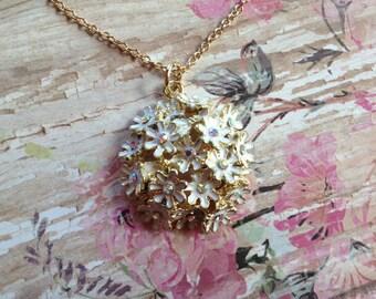 Flower Pendant, Rhinestone Flower Pendant, Necklace, Pendant, For Her, Womens Jewelry, Jewelry
