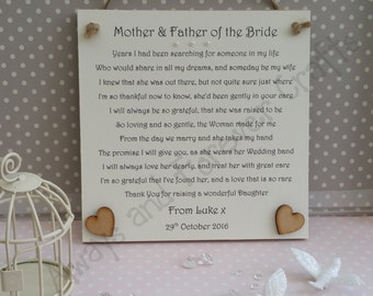 Groom gift, Mother and Father of the Bride, Thank You wedding gift, Mother of the Bride gift, Father of the Bride gift, Thank you for Groom