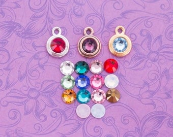 Add a Swarovski Birthstone Crystal Charm