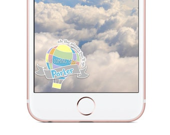 Custom Snapchat Geofilter, Baby Shower Snapchat Filter, Oh the places you'll go Filter