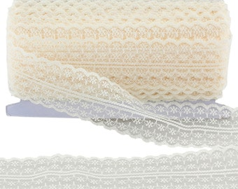 Ivory Vintage Lace Bridal Wedding Trim Ribbon CRAFT (VL8C-20m x 43mm)