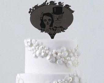 Wedding cake topper, Cake topper, Wedding Cake, Cake, Cake topper for wedding, Sugar skulls, dia de los muertos, Wedding cake, Wedding gift,