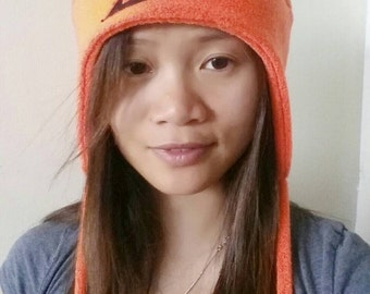 Orange Fairytail Hat - Fairytail Hat - Convention Hat - Anime Hat - Cosplay Hat - Earflap Hat - Snowboarding Hat - Fairytail Aviator Hat