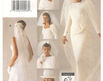 Vogue 9183 All Sizes Womens Wedding Veils And Hat Sewing Pattern Bridal Veil