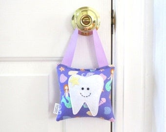 Girls Tooth Fairy Pillow - Personalized Tooth Fairy Pillow - Mermaids