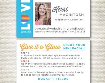 Rodan and Fields Mini Facial Business Cards