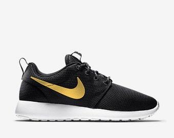 Nike Roshe Run Gold Grau