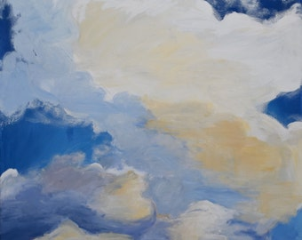 "Clouds, Original Acrylic Painting, 30""x40"""