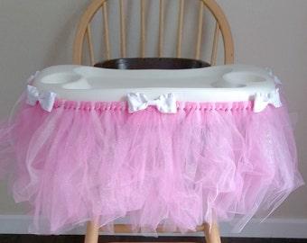 First Birthday Banner - Pink - Birthday Banner -Highchair Tutu