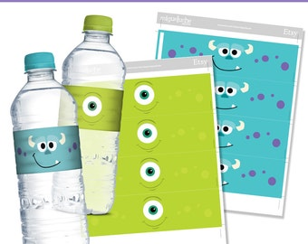 6 Printable Water Bottle Labels Monsters Inc