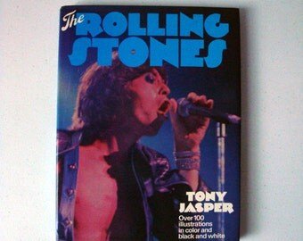 The Rolling Stones By Tony Jasper 1976 Color Picture Book | Rolling Stones Color Pictorial Biography | Rolling Stones Coffee Table Book