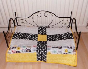 Handmade pet bed quilt
