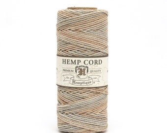 Hemptique Hemp Macrame Cord Sandalwood Eco Friendly Natural Twine 62.5m