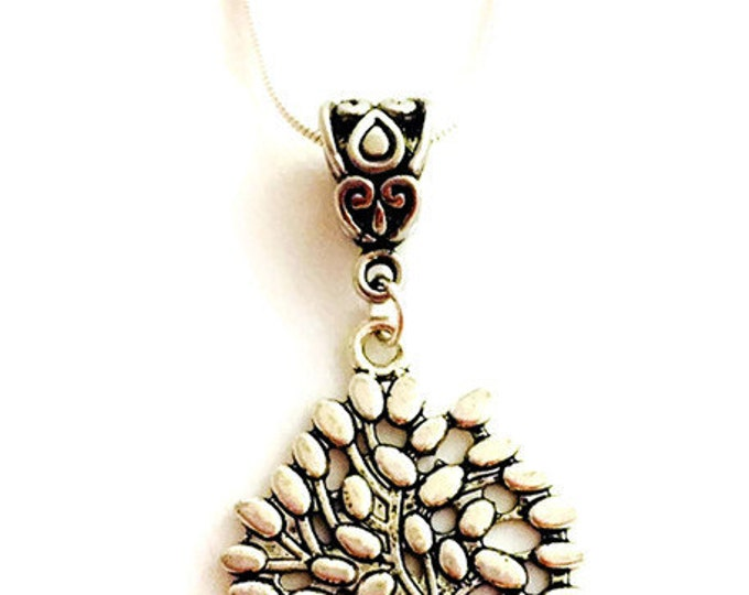 Tree Of Life Necklace- Silver Plate Chain and Pendant