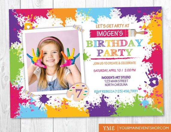 craft party invitation