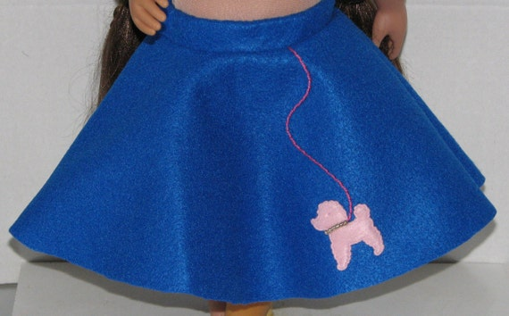 blue poodle skirt 18 doll clothes made in usa fits