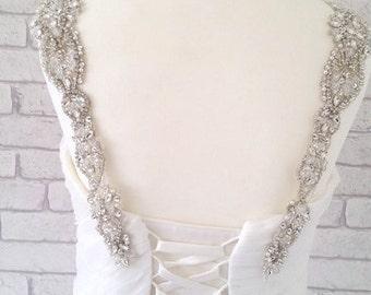 BROOKLYN Wedding Dress Straps - Luxury Vintage Crystal Wedding Bridal Accessories