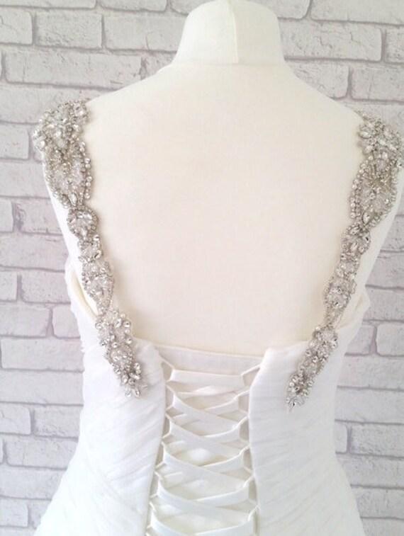 Wedding Dress Accessories Straps : Pre order brooklyn wedding dress straps by crystalandpearlb